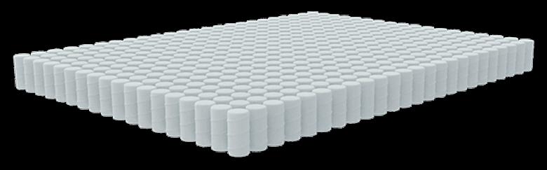 dreamcloud hybrid mattress - natural latex layer